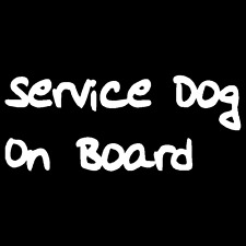 Service Dog On Board Vinyl Decal Car Truck Window Sticker Pet Therapy Puppy Love