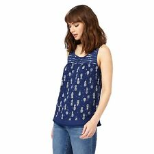 Mantaray Womens Navy Pineapple Print Vest Top From Debenhams