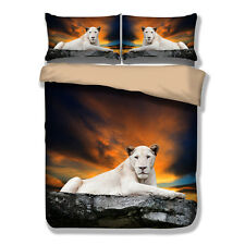 Panther Duvet Quilt Doona Cover Set Single Queen King Size Bed Cover Set Animal