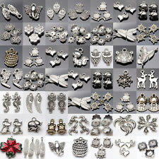 Lot Tibet Silver Metal Spacer Bead Caps Pendant Charm DIY Jewelry Accessories