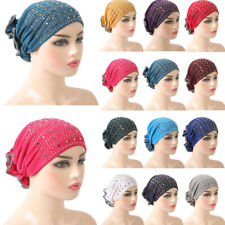 Muslim Stretch Turban Hat Cancer Chemo Cap Hair Loss Head Scarf Wrap Cover Hijab
