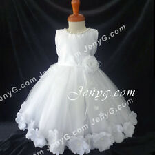MFWW7 Baby Infants Christening Baptism First Holy Communion Formal Gown Dress