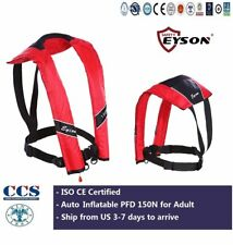 Life Saving Jacket PFD  Vest Neck Type Auto Inflatable 150N Eyson for Adult