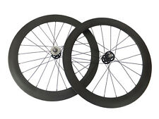 50+60mm Tubular Carbon Wheels Road Bicycle Road Bike Track Fixed Gear Wheelset
