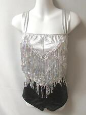 NEW!  EXQUISITE SEQUINED DANCE JAZZ TAP ROMPER COSTUME ~ 2 AVAIL. ~ SA/MA