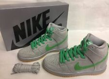 Nike SB Dunk High Premium Silver Box 313171-039 Silver/Green Brand New In Box