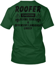 1 Day Left- Last Chance Hurry Order Roofer Caution: Hanes Tagless Tee T-Shirt