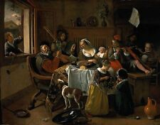 The Merry Family by Jan Steen (classic Dutch Baroque art print)