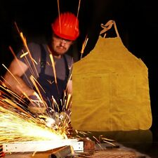 Long Cotton Carpentersather Cowhide Welders Welding Apron Protective Clothing SY