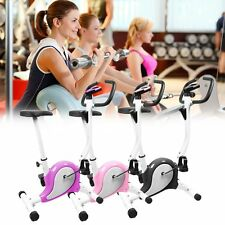 Home Gym Body Fitness Cardio Exercise Bike Workout Trainer Adjustable Resistance
