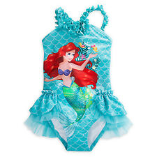 NWT Disney Store Deluxe Princess Ariel Swimsuit Little Mermaid many sizes Girls