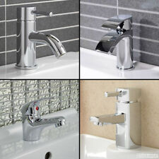 Chrome Basin Mono Mixer Tap Bathroom Cloakroom Sink Bowl Brass Faucet