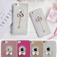 Soft TPU Bling Crystal Flash Powder Bow Cover Case for Apple iPhone 6 6S 4.7inch