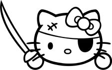 Hello Kitty - Pirate - Vinyl Car Window and Laptop Decal Sticker