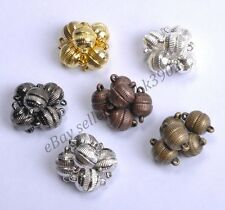 Wholesale 10Sets Silver/Gold Plated Stripe Jewelry Powerful Magnetic Clasps