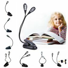 Battery/USB Adjustable Rechargeable LED Reading Light Clip-on Clamp Desk Lamp