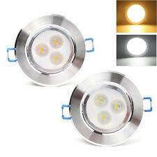 3W LED Ceiling Light Home Recessed Spot Downlight Cool White Lamp Bulb W/ Driver
