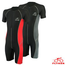 Flyker Mens Cycling Skinsuit Padded One Piece Cycling TriSuit Bike Top Short