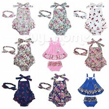 Newborn Infant Girl Baby Floral Romper Bodysuit Jumpsuit Outfits Sunsuit Clothes