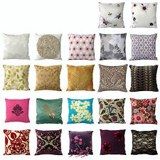 Assorted Floral Leaves Bedroom Living Sofa Square Filled Cushion Pillow