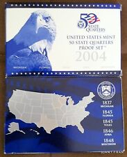 2004-S 5 Coin U.S. Mint 50 State Quarters Proof Set with Mint Box and COA