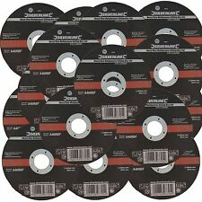 """Silverline 115mm Ultra 1mm Very Thin Flat Metal Cutting Discs 4.5"""" Angle Grinder"""