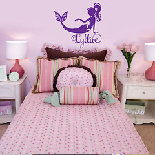 Girls Mermaid Bedroom Room Decor Personalized Name Custom Wall Decal Home Decor