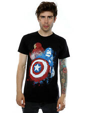 Marvel Men's Captain America Civil War Painted Vs Iron Man T-Shirt