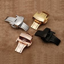 Butterfly Deployment Watch Bands Double Push Button Fold Strap Buckle Clasp A++