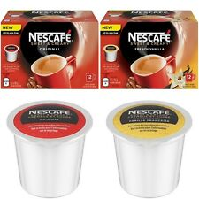 3 Packs NESCAFE Sweet & Creamy Coffee Pods Compatible for use with Keurig K-CUP
