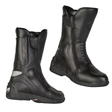 Akito Intra Leather Waterproof Non-Slip Motorbike Motorcycle Boots Black Touring