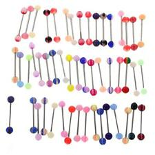 50/60Pcs Mixed Color Tongue Nipple Ring Piercing Jewellery Tounge Barbell Bar