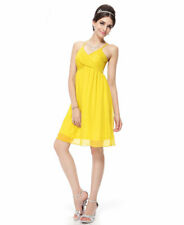 Brand New Sexy Yellow Charming Cross Straps Cocktail Party Dress