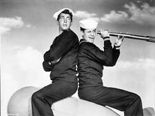 Dean Martin and Jerry Lewis Looking in Classic Portrait High Quality Photo