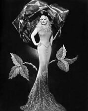 Mae West standing Posed in Black and White High Quality Photo
