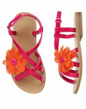 NWT Gymboree Floral Strap Sandals Shoes Surf Adventure SZ 6 Girls
