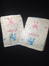 Cuddlz Adult Diaper Plastic ABDL Thick Nappy 2 pack Sample All Over Print