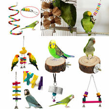 Pet Bird Play Toys Paw Grinding Stand Perches Cage Parrot Bite Chew Hanging Gift