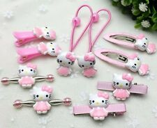 Hair Accessories SET HELLO KITTY Girls BABY Clip Hairpin Headband In Jewelry Box