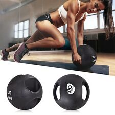 Goplus Dual Grip Medicine Ball Sports Gym Fitness Workout 6/8/10/12/14/16/20 lbs