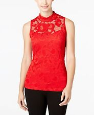INC International Concepts Lace Mock-Neck Tank Top NWT MSRP $69