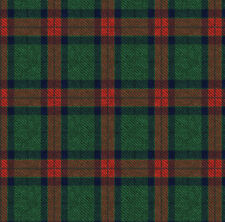 Dark Green and Red Plaid Fabric Printed by Spoonflower BTY