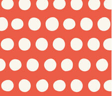 Large Red and Cream Polka Dot Fabric Printed by Spoonflower BTY