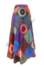 New Bohemian Style Patchwork Maxi Skirt Hippie Clothes size 8 10 12 14 16