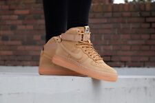 Nike Air Force 1 One High Top LV8 Wheat Flax Brown Youth SF1 807617 200 5 6.5