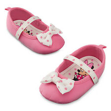NWT Disney Store Minnie Mouse Pink Baby Costume Shoes 6 12 18 24 mo polka dots