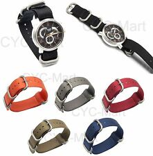 Nylon Watch Strap Band, 5 Ring ZULU Military, 20mm / 22mm New Color FREE Post