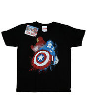 Marvel Boys Captain America Civil War Painted Vs Iron Man T-Shirt