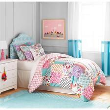 Girls Teen Pink Aqua Blue Purple Bohemian Floral Damask Comforter Set Bedding