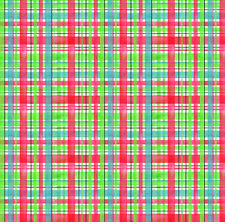 Green Blue and Red Plaid Fabric Printed by Spoonflower BTY